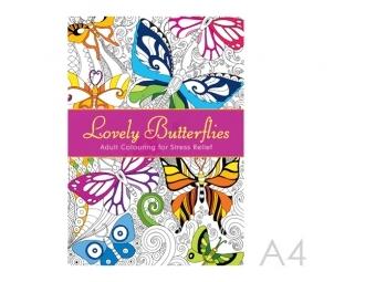 JUNIOR Antistresové omaľovánky pre dospelých - Nádherné motýle