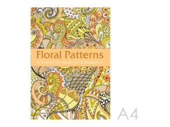 JUNIOR Antistresové omaľovánky pre dospelých - Kvetinové vzory