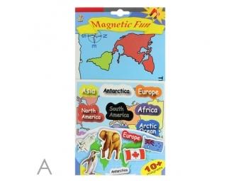 JUNIOR Hra magnetická - Spoznaj kontinenty, vlajky, zvieratá a vesmír
