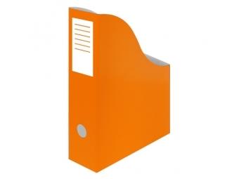 JUNIOR Stojan na časopisy A4 kartón. oranžový