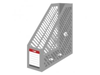 JUNIOR Stojan na časopisy A4 - plastový/šedý
