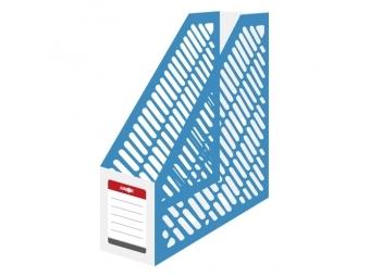 JUNIOR Stojan na časopisy A4 - plastový/bielo-modrý