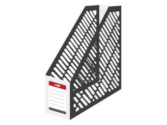JUNIOR Stojan na časopisy A4 - plastový/bielo-čierny