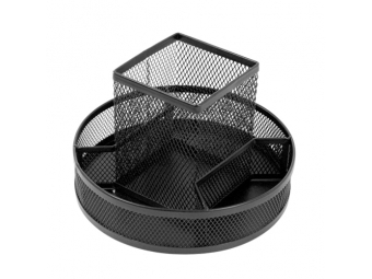 JUNIOR stojan drôtený otočný 5-dielny, čierny