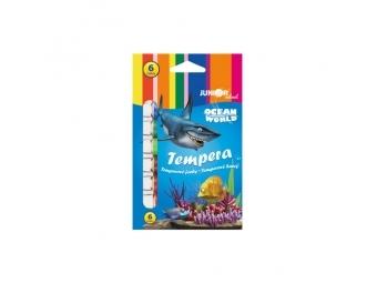 JUNIOR Farby temperové Ocean World 12 ml - sada 6 ks