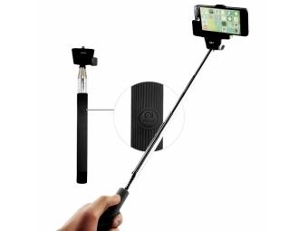 C-TECH teleskopický selfie držiak MP107B pre mobil, monopod, Bluetooth diaľková spúšť, čierny