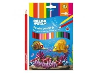 JUNIOR Pastelky Ocean World trojhrané 24 ks
