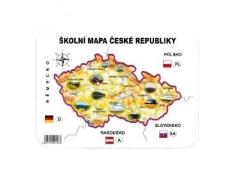 JUNIOR Školská papierová mapa ČR šablóna geografická
