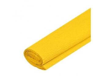 JUNIOR Papier krepový - žltý 04