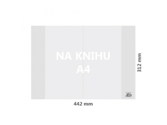 JUNIOR Obal na knihu A4 PP 442x312 mm, hrubý/transparentný / 100 ks