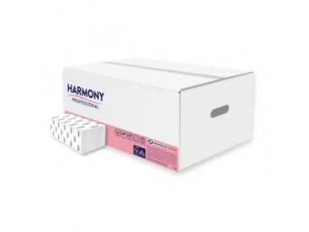 Harmony uteráky papierové professional skladané ZZ,2-vrstv.,biele (krt=20bal)