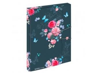 Herlitz Box na dokumenty PP A4/4cm s gumičkou Ladylike Kvety