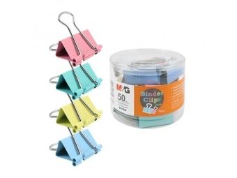 M-G Klip Binder - farebný (50 mm), 12 ks