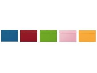Obálka farebná C6 120g,114x162mm s pásikom,mix (bal=5ks)
