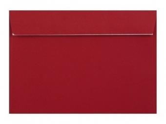Obálka farebná C6 120g,114x162mm s pásikom,červená (bal=5ks)