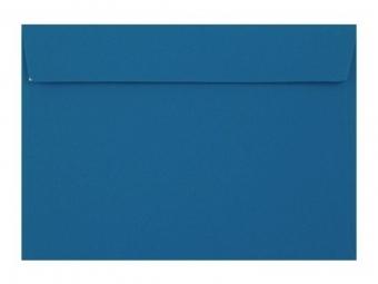 Obálka farebná C6 120g,114x162mm s pásikom,modrá (bal=5ks)