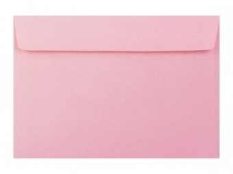 Obálka farebná C6 120g,114x162mm s pásikom,sv.ružová (bal=5ks)