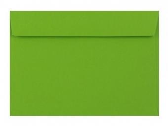 Obálka farebná C6 120g,114x162mm s pásikom,zelená (bal=5ks)