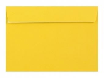 Obálka farebná C6 120g,114x162mm s pásikom,žltá (bal=5ks)