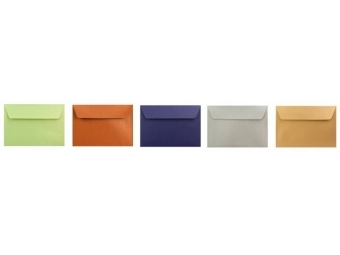 Obálka farebná C6 120g,114x162mm s pásikom,perleť. mix (bal=5ks)