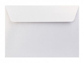 Obálka farebná C6 120g,114x162mm s pásikom,perleť.biela (bal=5ks)