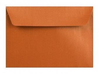 Obálka farebná C6 120g,114x162mm s pásikom,perleť.medená (bal=5ks)