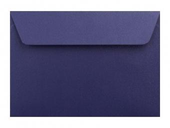 Obálka farebná C6 120g,114x162mm s pásikom,perleť.tm.modrá (bal=5ks)