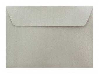 Obálka farebná C6 120g,114x162mm s pásikom,perleť.strieborná (bal=5ks)