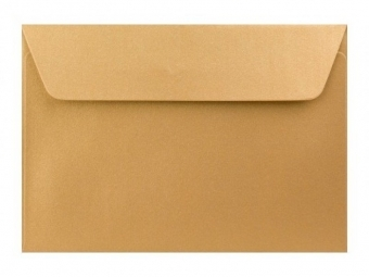 Obálka farebná C6 120g,114x162mm s pásikom,perleť.zlatá (bal=5ks)