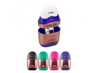 MILAN Guma + strúhadlo Capsule Copper, mix farieb