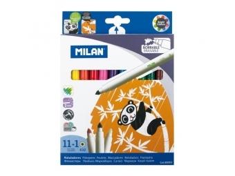 MILAN Fixy - sada 11 ks+1 ks zmizík