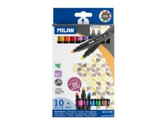 MILAN Fixy obojstranné 0,5mm - sada 10 ks