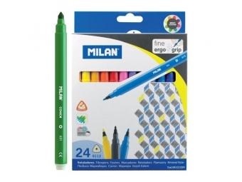 MILAN Fixy 0,2mm - sada 24ks trojhranné