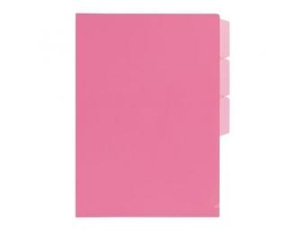 PLUS Obal na dokumenty + 3 x L rozraďovač FL101CH ružový