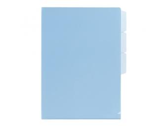 PLUS Obal na dokumenty + 3 x L rozraďovač FL101CH modrý