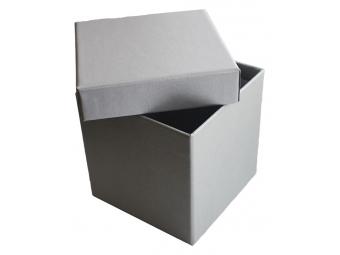 Darčeková krabička 102x102x102mm strieborno-sivá farba