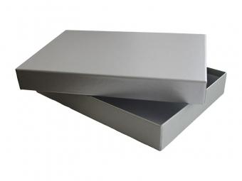 Krabička darčeková 200x120x50mm strieborno-sivá farba