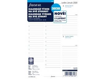 FiloFAX Náhradná náplň do diára A5, kalendár 2020 týždeň/2 str., linajkový