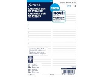 FiloFAX Náhradná náplň do diára A5, kalendár 2020 deň/1 str., linajkový