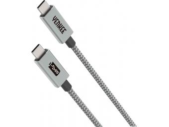 Yenkee YCU 321 GY USB 3.1.Gen 1 kábel synchronizačný a nabíjací USB C - USB C, dĺžka 1 m