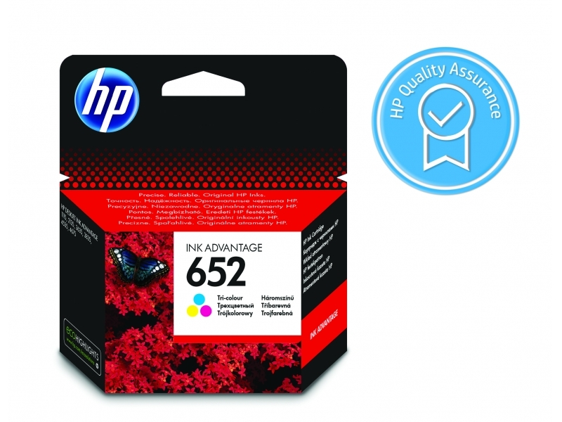HP No.652 Atramentová kazeta Color (F6V24A)