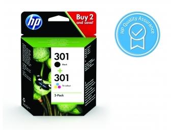 HP No.301 Atramentová kazeta Combopack / Bk+Col (N9J72AE)