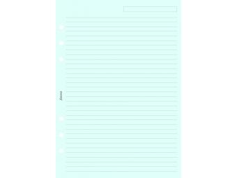 FiloFAX Náhradná náplň do diára A5,linajková modrá (bal=25listov)