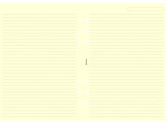 FiloFAX Náhradná náplň do diára A5,linajková krémová(bal=25listov)