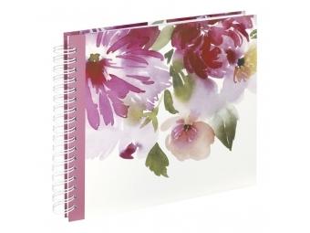 Hama 2654 album klasický špirálový Watercolor Flower 28x24 cm, 50 strán