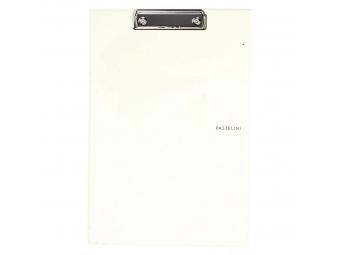 PP Písacia podložka Pastelini s klipom A4 žltá
