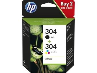HP No.304 Atramentová kazeta Combopack Color + Black (3JB05AE)