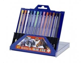 Koh-i-noor ceruzky Scala 4012/12 v plastovom obale