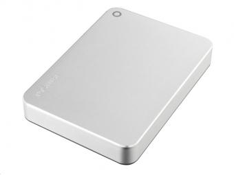 "TOSHIBA HDD CANVIO PREMIUM 4TB, 2,5"", USB 3.0, metalická strieborná"
