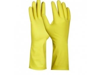 """Rukavice gumené pre domácnosť """"L"""" žlté"""